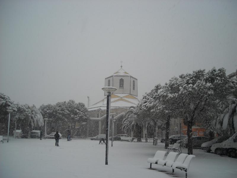 Alfredo 4 febbraio neve chiesa cristo re