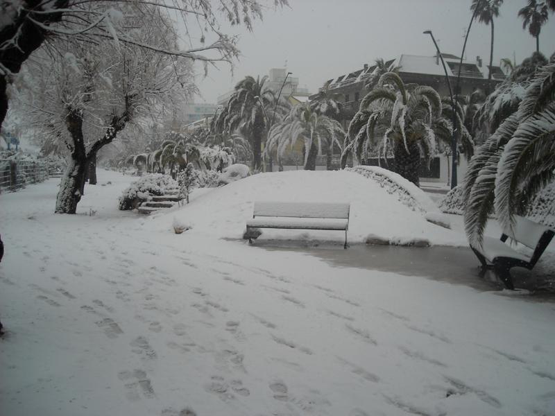 Alfredo neve 4 febbraio lungomare Europa San Benedetto