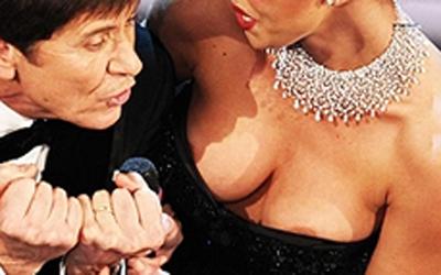 Belen Rodriguez a Sanremo 2012, Morandi fa il vecchietto