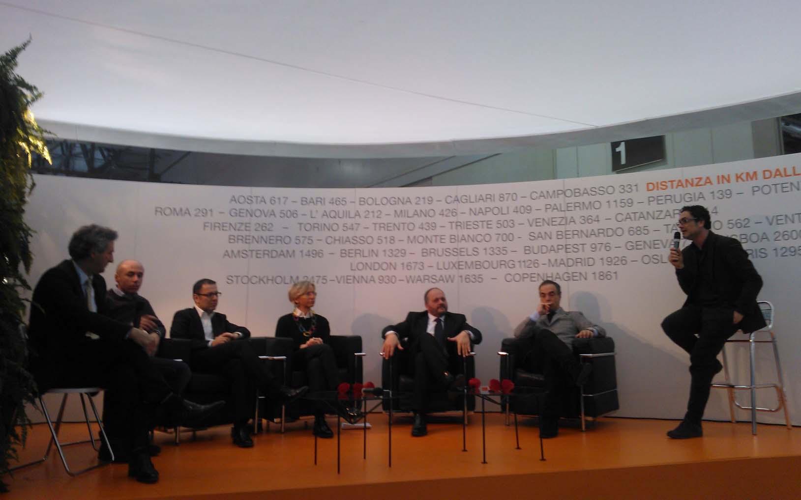 Bit 2012, da destra Stefano Greco, Maurizio Compagnoni, Giovanni Gaspari, Margherita Sorge, Paolo D'Erasmo, Simone Splendiani