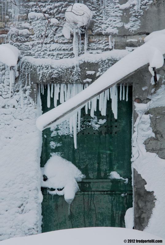 Neve febbraio 2012 Camminata Montefiore - Portone di campagna (Fred Portelli)