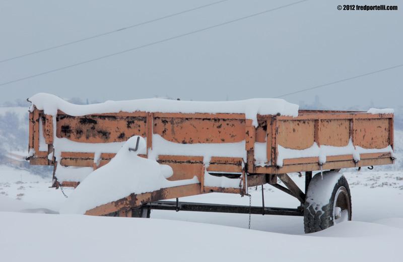 Neve febbraio 2012 Camminata Montefiore, rimorchio (Fred Portelli)