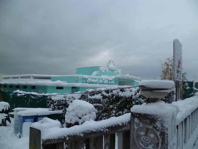 Foto della neve di Francesco Di Biagio, lo Chalet La Conchiglia