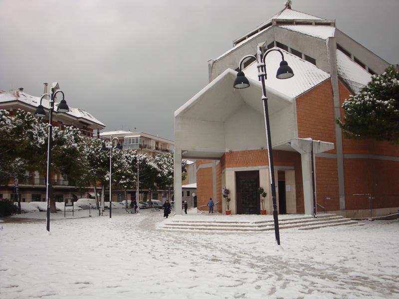 Chiesa di San Filippo Neri con la neve, 4 febbraio (giacomo lauretti)
