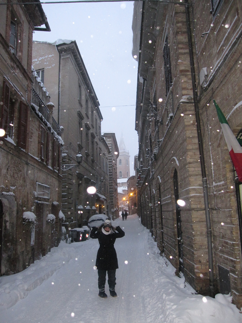 Corso Vittorio Emanuele, Ripatransone, neve 4 febbraio, Roberto Pasquali