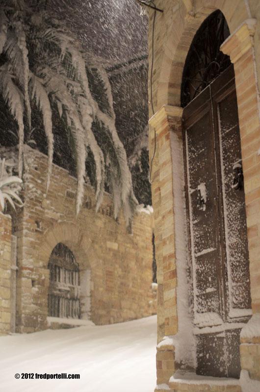 Neve a Cupra Marittima febbraio 2012, Portone a Marano (Fred Portelli)