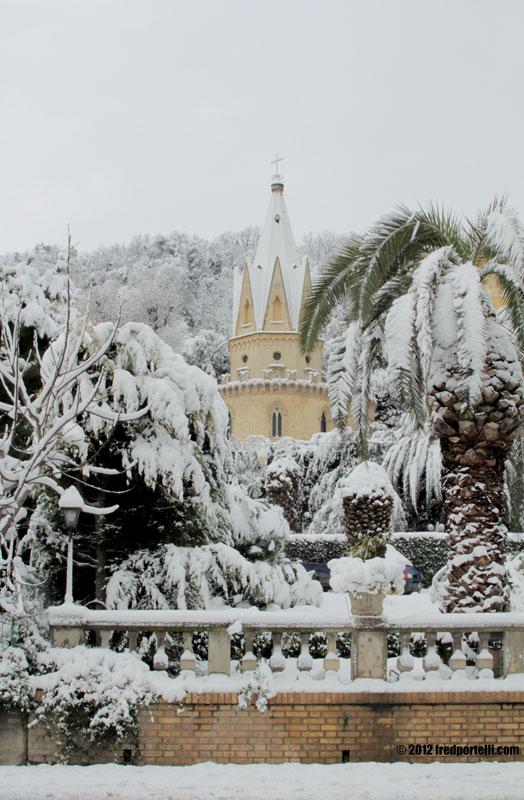 Neve a Cupra Marittima febbraio 2012, Villa Cellini (Fred Portelli)