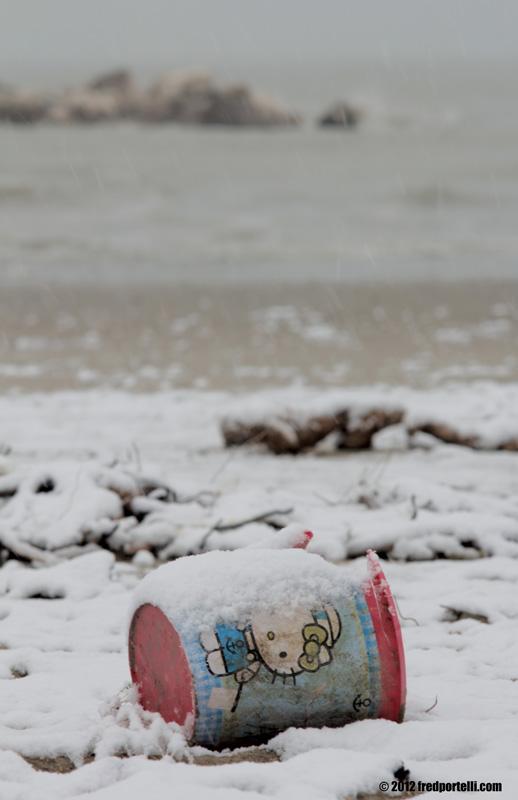 Neve a Cupra Marittima febbraio 2012, Goodbye Kitty (Fred Portelli)