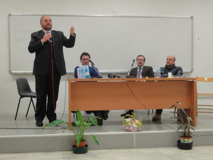 Giovanni Gaspari, Luca Spadoni, Leo Sestri ed Eldo Fanini
