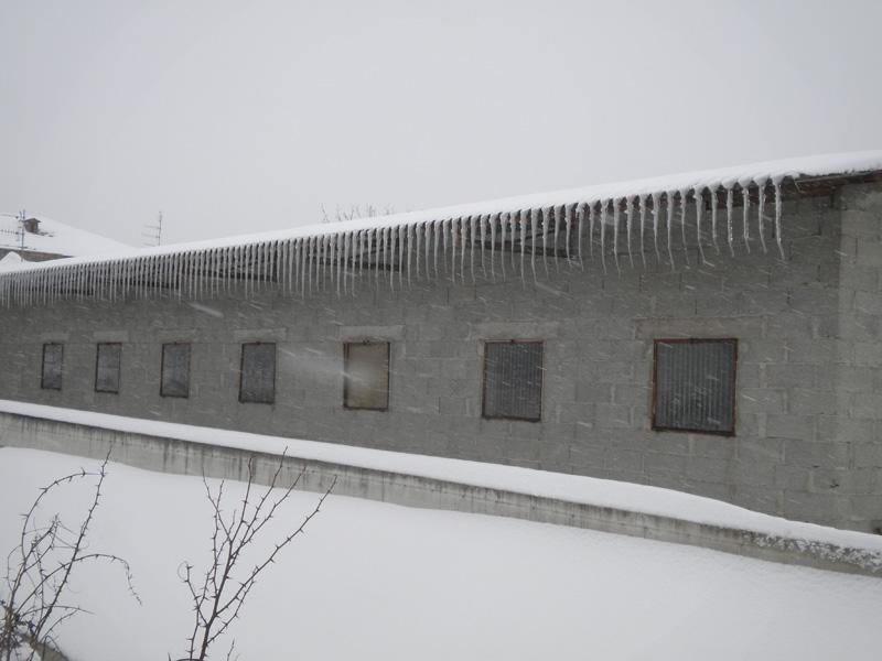 La neve a Monsampolo del Tronto, foto di Filippo Guerrieri