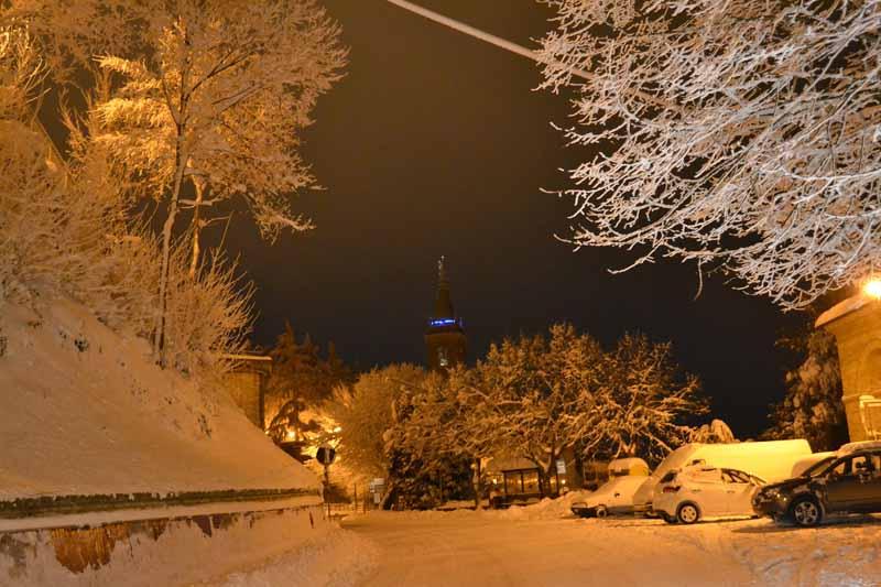 Ripatransone e la neve, foto del 3 febbraio, di Marco Capriotti