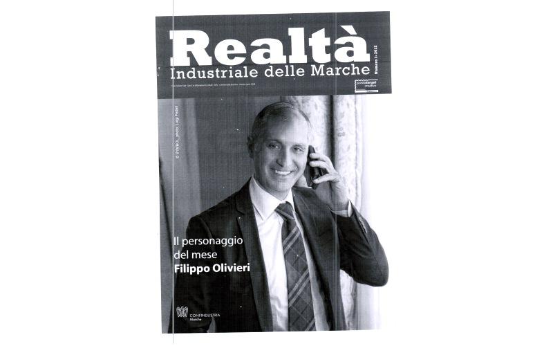 Filippo Olivieri in copertina su Realtà