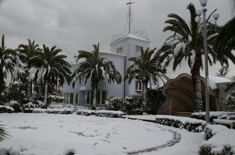 Foto di Davide Cernic - La Palazzina Azzurra con la neve, 4 febbraio 2012