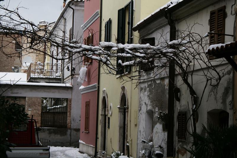 Foto di Davide Cernic - Via Volturno, San Benedetto, neve 4 febbraio