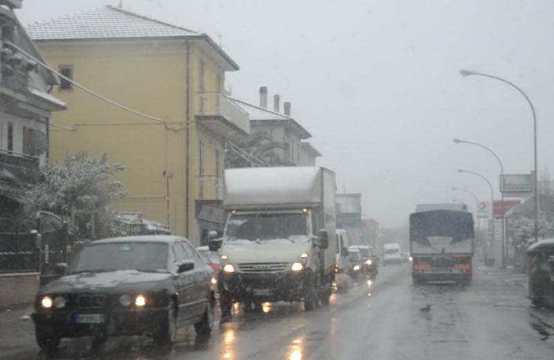Neve a San Benedetto 3 febbraio 2012