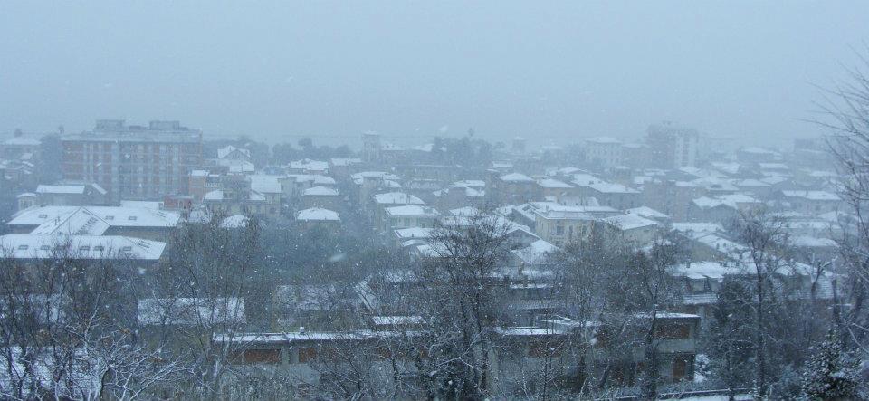 Grottammare in neve Magda febbraio 2012. 4