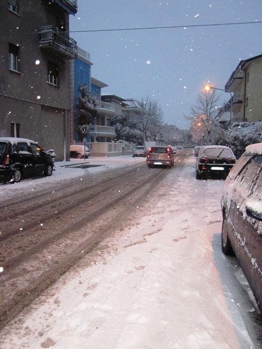Grottammare sotto la neve 3 febbraio 2012