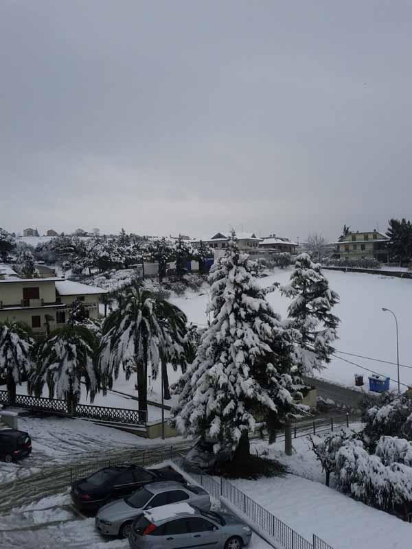 La neve a Stella di Monsampolo, foto di Valentina Portelli
