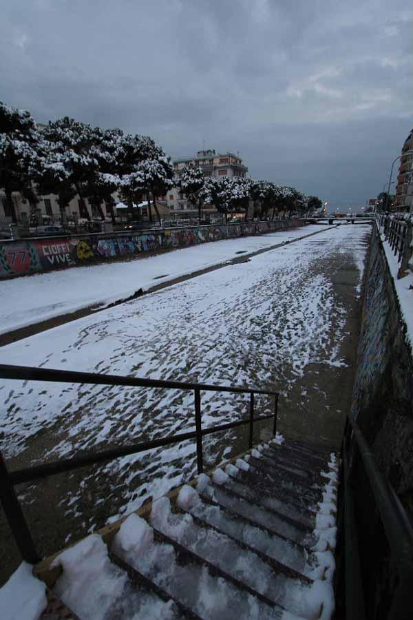 La neve al fosso dell'Albula e al campetto Fiore, foto di Antonio L.
