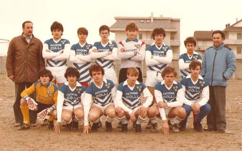Il Porto d'Ascoli Allievi 1983-84, primi classificati, Ettore Grilli il primo a destra, foto di Andrea Marinucci