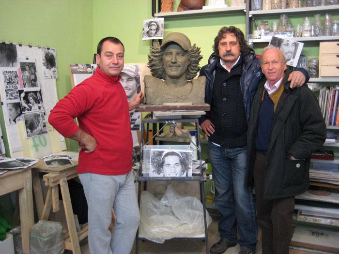 Danjel Kosma con papà Simoncelli
