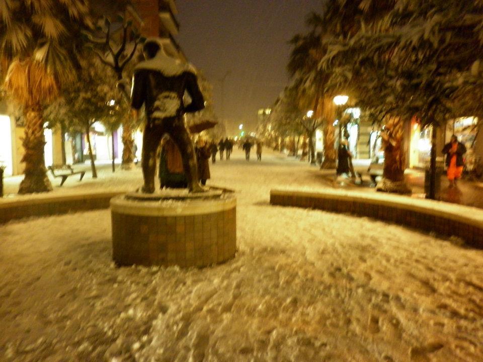 Kostabi con la neve, Stella Spina, febbraio 2012