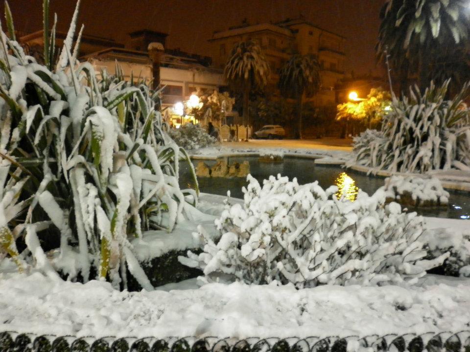La rotonda con la neve, Stella Spina, febbraio 2012