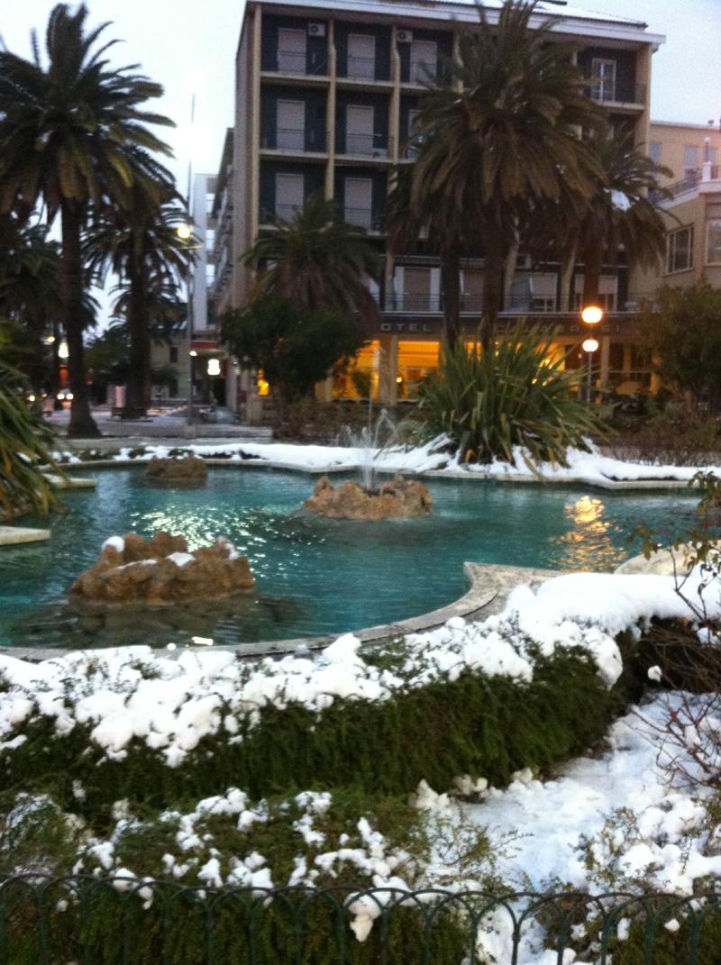 La rotonda di San Benedetto (silvia basili, Grottammare), neve febbraio 2012