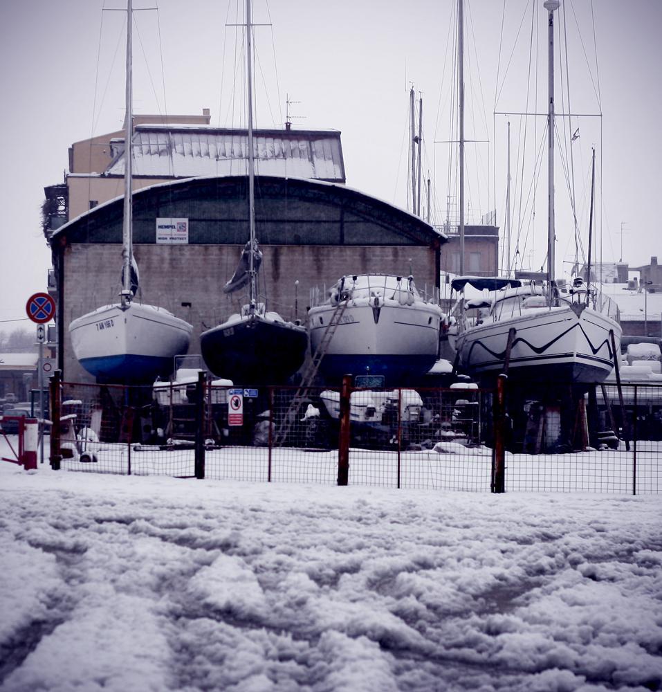 Laura Mecozzi, il molo di San Benedetto con la neve, 5 febbraio 3