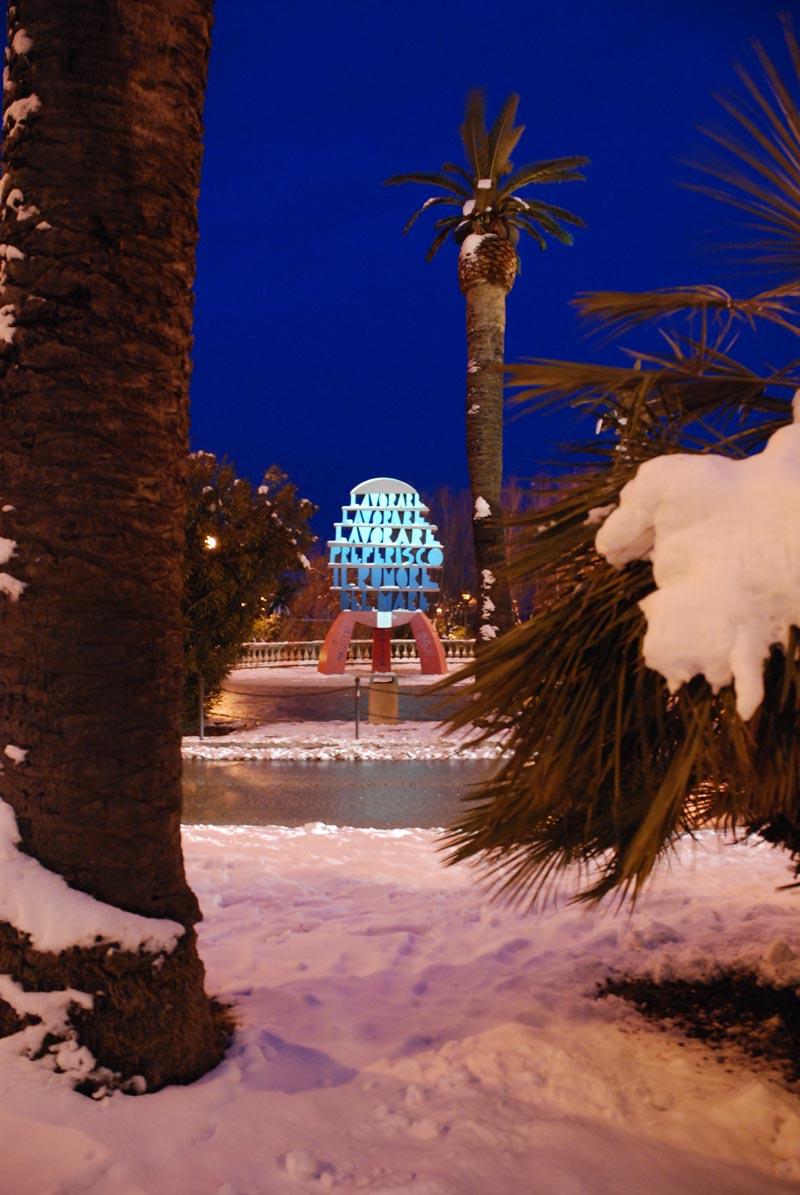 Lavorare lavorare San Benedetto, 5 febbraio, neve, Francesco Rossi di Acquaviv
