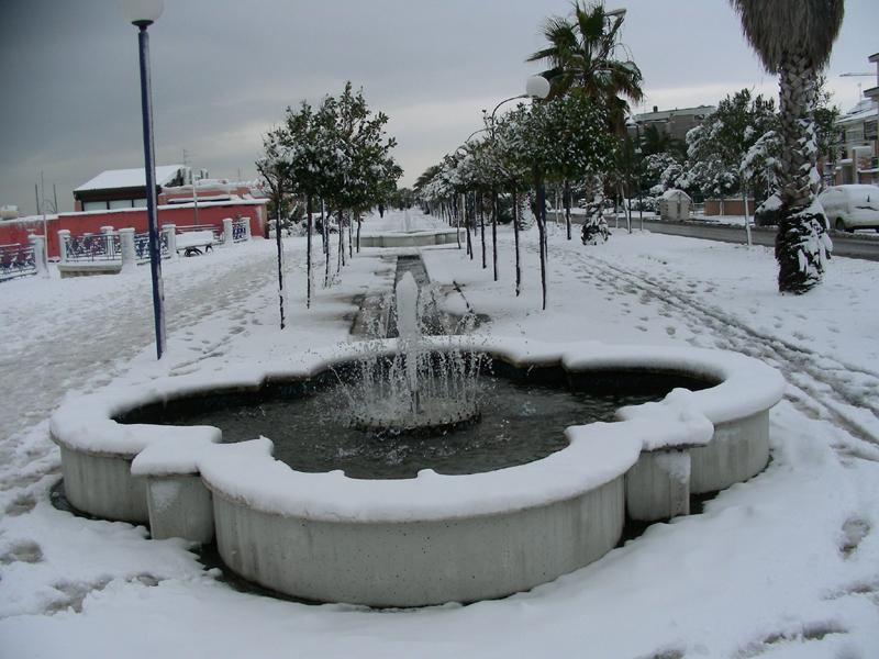 Lungomare Grottamare nella neve, 4 febbraio, Marcello Iezzi
