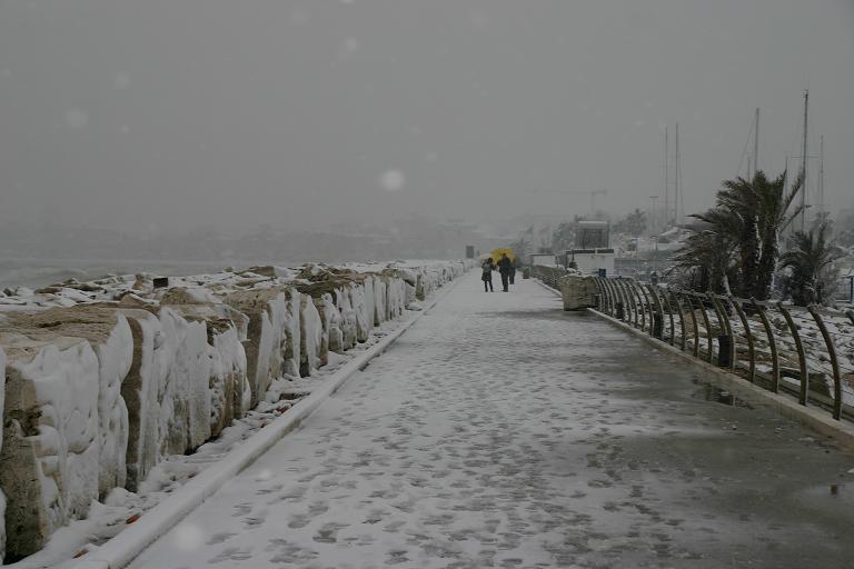 Molo di San Benedetto, 3 febbraio 2012 (Foto di Maurizio Grandoni)