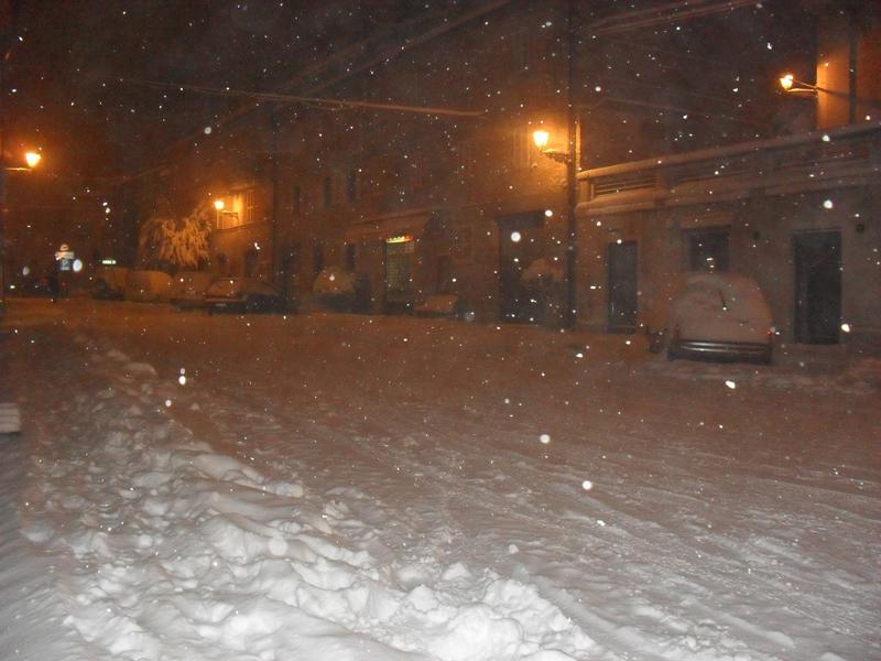 Montefiore del'lAso sotto la neve 3 febbraio 2012 foto di Alessandra