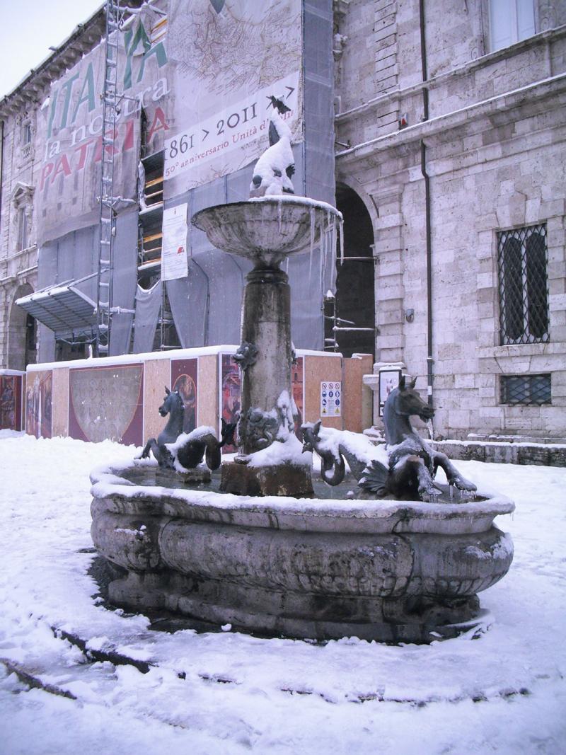 Neve 5 febbraio, Serena Bianchini, passeggiando verso Ascoli 10