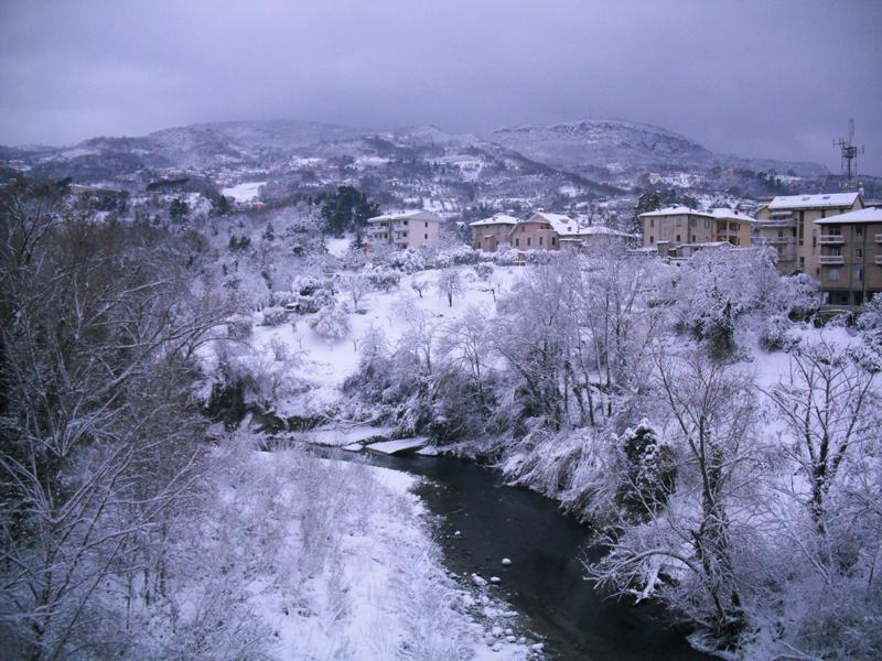 Neve 5 febbraio, Serena Bianchini, passeggiando verso Ascoli 3