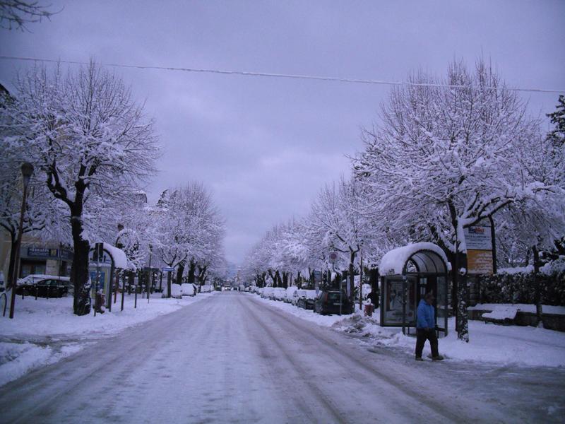 Neve 5 febbraio, Serena Bianchini, passeggiando verso Ascoli 6