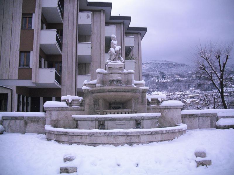 Neve 5 febbraio, Serena Bianchini, passeggiando verso Ascoli 7
