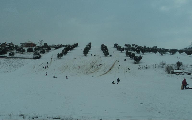 Monte Renzo quando, dopo la nevicata di febbraio, sembrava monte Piselli
