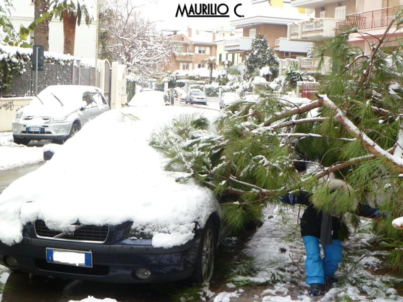 Neve San Benedetto, 5 febbraio, Maurilio Cestarelli Danno-via-Trento