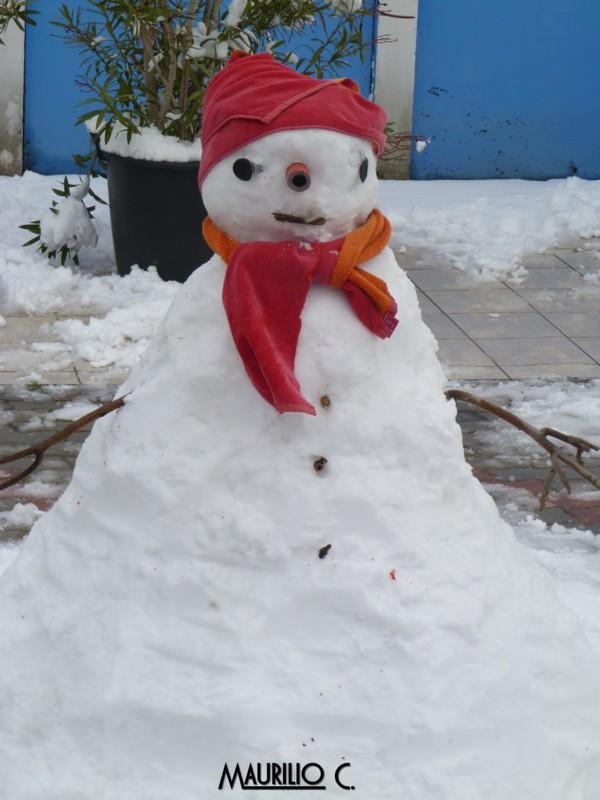 Neve San Benedetto, 5 febbraio, Maurilio Cestarelli Pupazzo-1