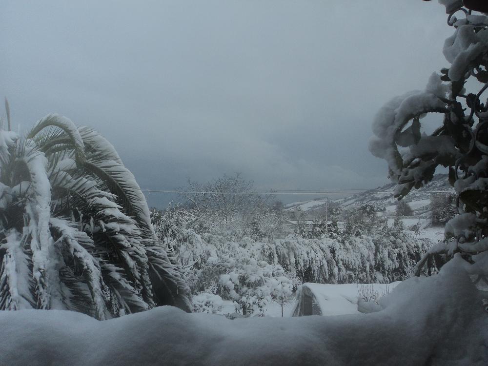 Neve a Centobuchi, 4 febbraio 2012 foto di Franco Tufoni