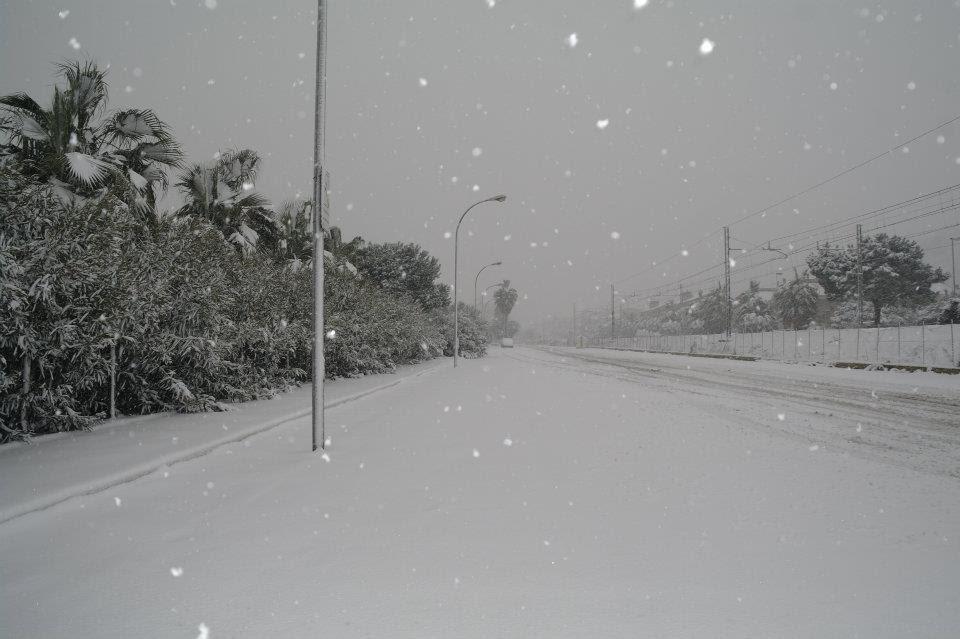 Neve a Cupra Marittima 4 febbraio 2012