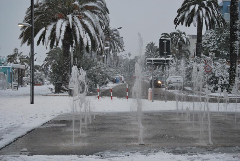 Neve a Grottammare, 3 febbraio, foto Luigi Scartozzi 2