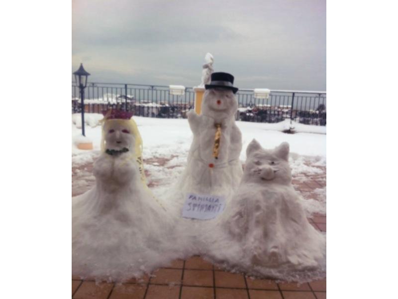 Neve a Grottammare 5 febbraio di Marco e Federica Spinsanti