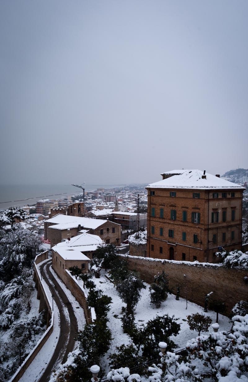 Neve a Grottammare, febbraio 2012, Stefano Mariani, il paese alto