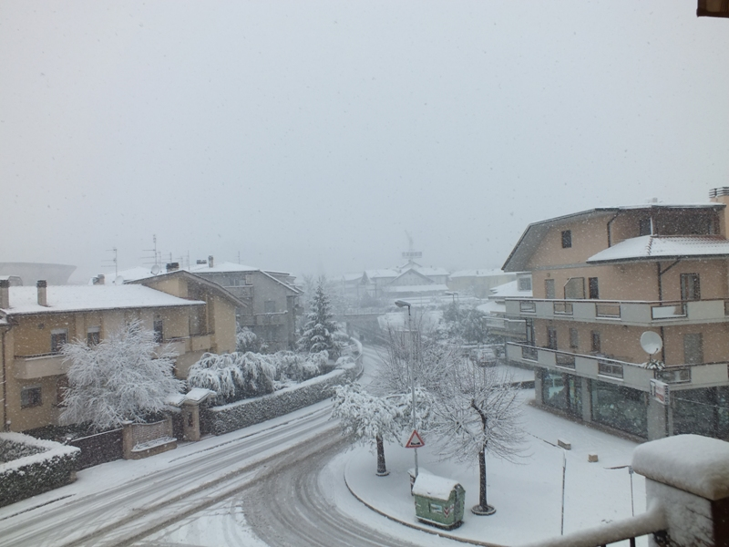 Neve a Pagliare del Tronto, 3 febbraio 2012, foto di Erika Meireles 1