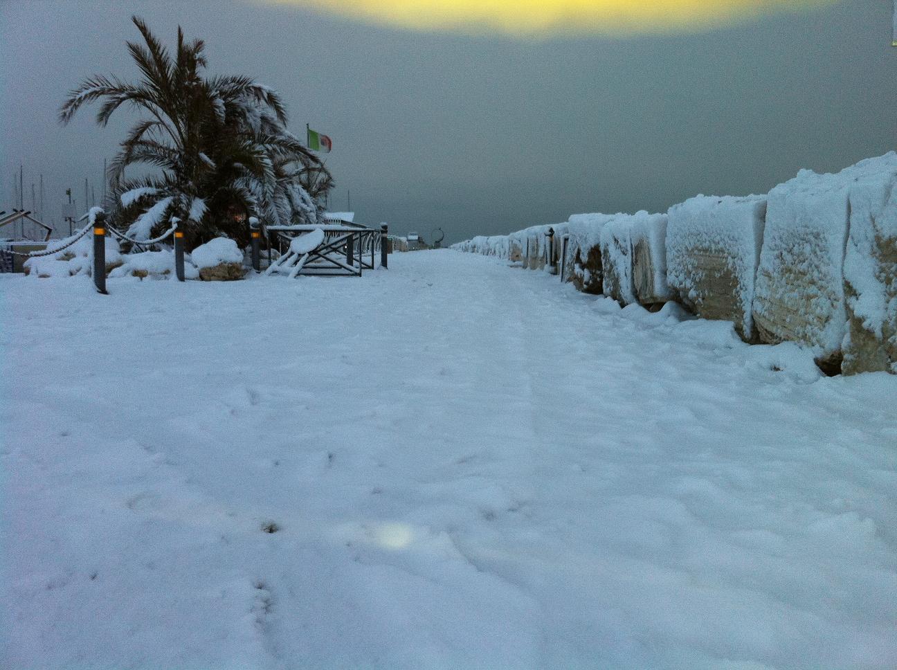 Neve a San Benedetto, 3 febbraio 2012 foto di Mariano Vannicola 2