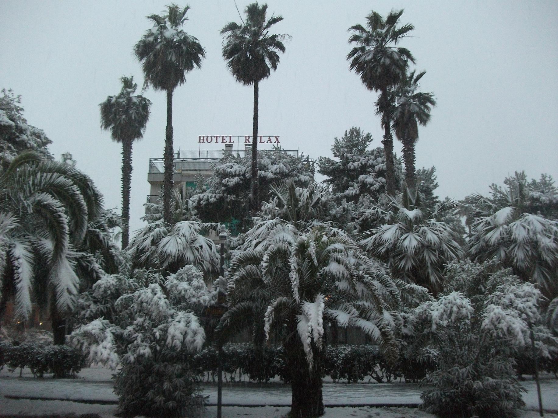 Neve a San Benedetto, 3 febbraio 2012 foto di Nicola F.