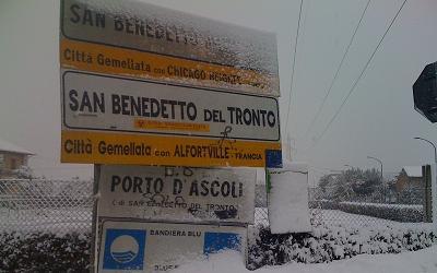 Neve a San Benedetto, 3 febbraio 2012 foto di Paolo Piunti