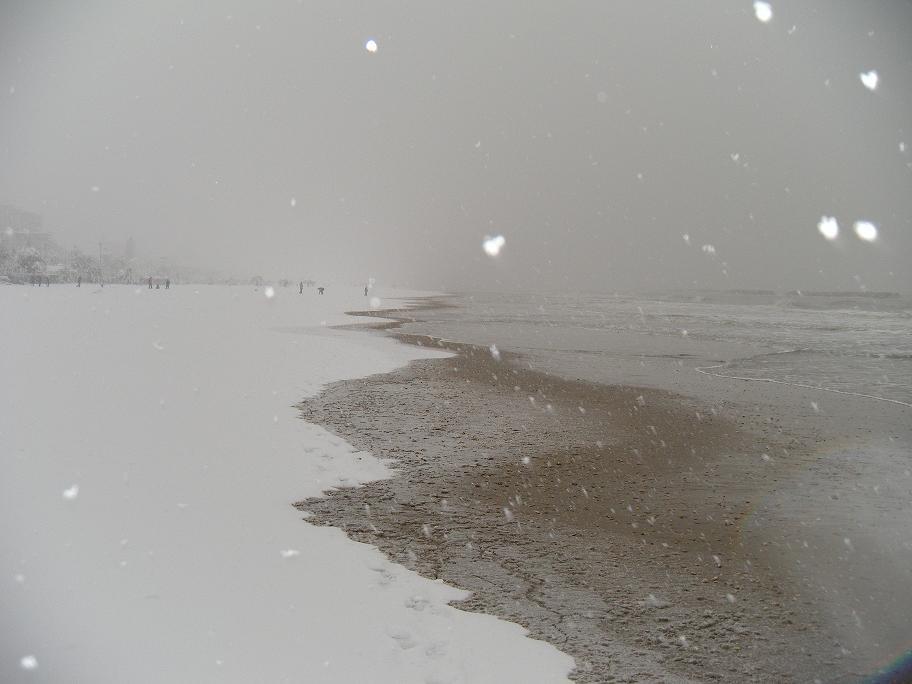 Neve a San Benedetto, 3 febbraio 2012 foto di Stefano Cocci
